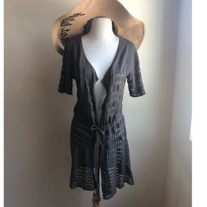 Daisy Fuentes Short Sleeve Cardigan Cover up